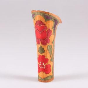 Tacco intarsiato in legno e decorato a mano