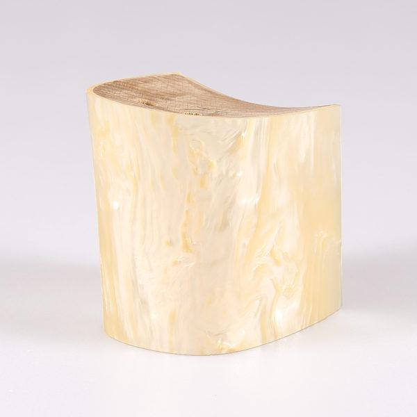 Tacco in abs rivestito in resina effetto madreperla
