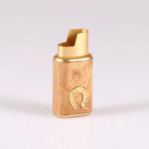 Porta accendino in legno