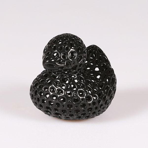 Soprammobile in PLA nero lucido