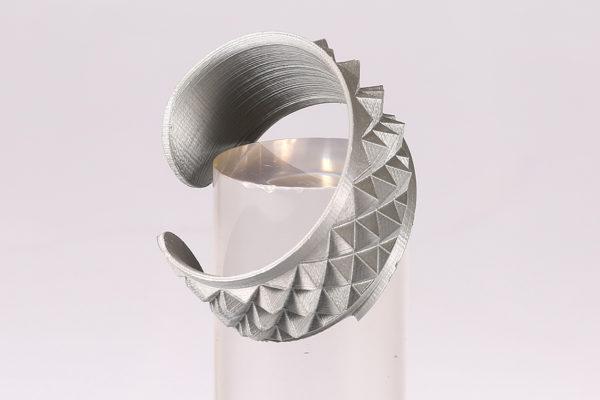 Bracciale in PLA effetto argento